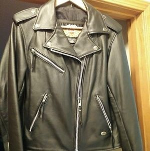 Woman's leather Harley Jacket